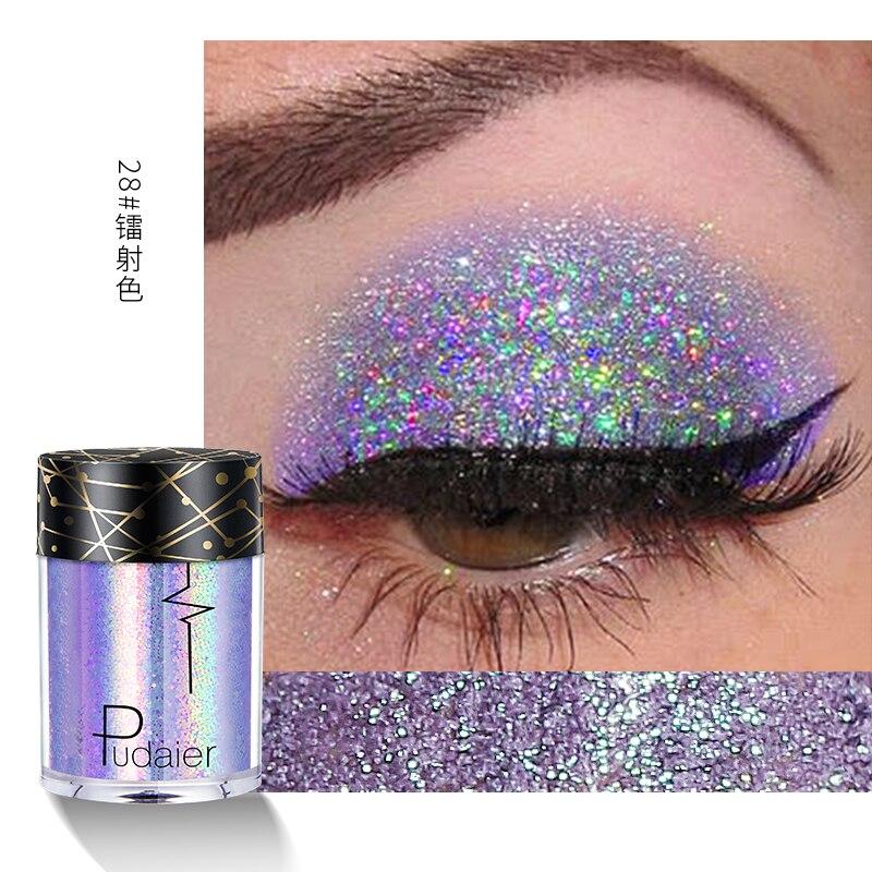 Pudaier блеск для глаз, блеск для лица, макияж для тела, рыхлый пигмент, хайлайтер, блестящий порошок, 36 цветов, корейская косметика TSLM1