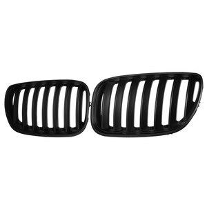 Image 4 - Par preto fosco chrome amortecedor dianteiro grille capa rim esporte grills grille para bmw x5 e53 2004 2006 estilo do carro
