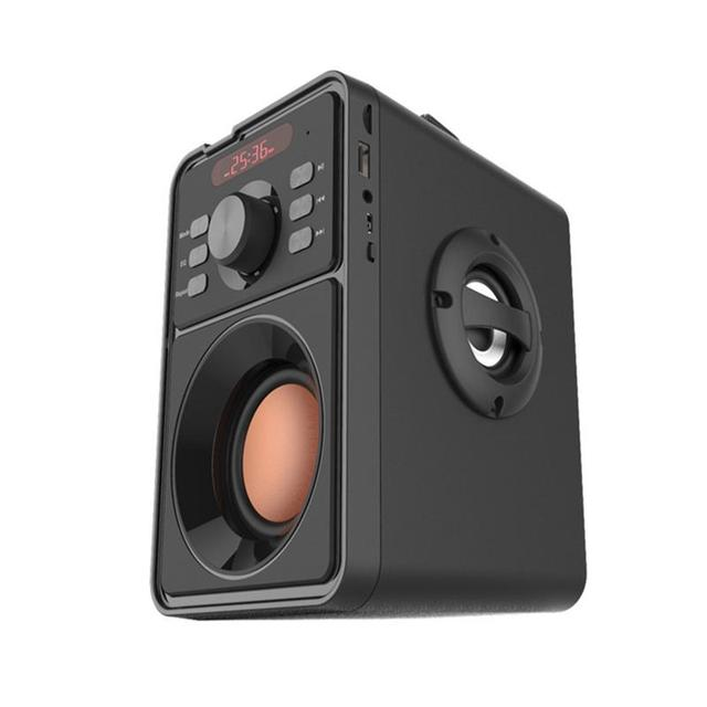 Wireless Bluetooth Speaker Home Outdoor Portable 10W Subwoofer Bass Stereo Music 3D Speaker Support TF FM PC MP3 MP4 Black