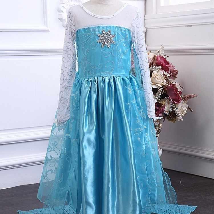 2019 Elza Cosplay Snow Queen Vestidos Frozen Princesa Anna