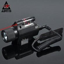 AIMTIS мини Глок пистолет светильник Охота Отдых на природе пистолет светильник ing оборудование вспышки светильник тактический прицел красный лазерный светодиодный фонарь