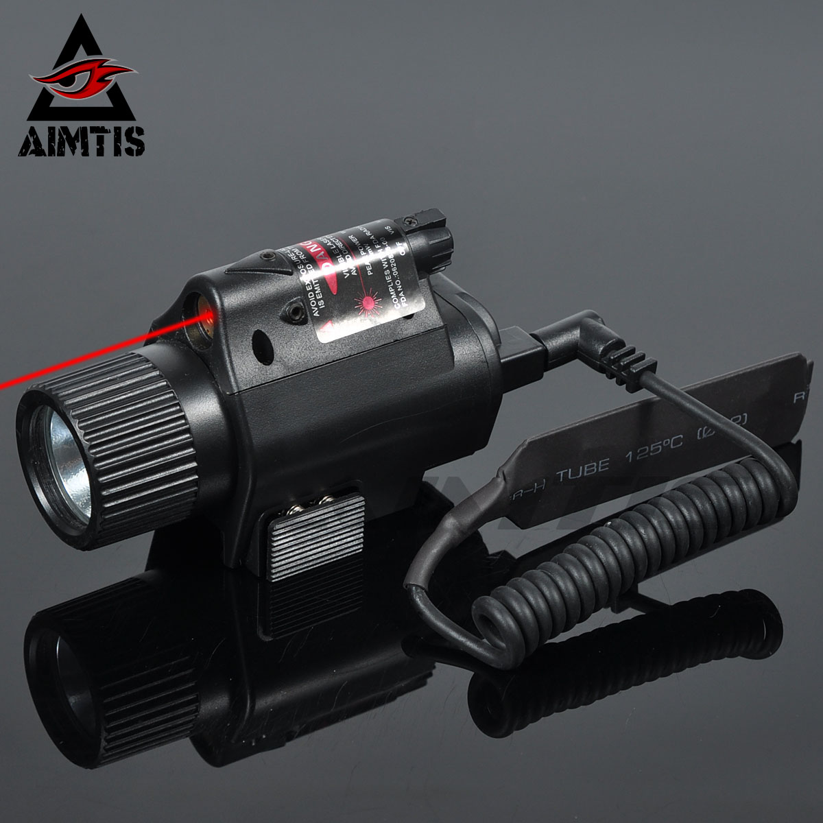 AIMTIS Mini Glock Pistol Gun Light Hunting Camping Gun Lighting Equipment Flashlight Tactical Sight Red Laser LED Flashlight
