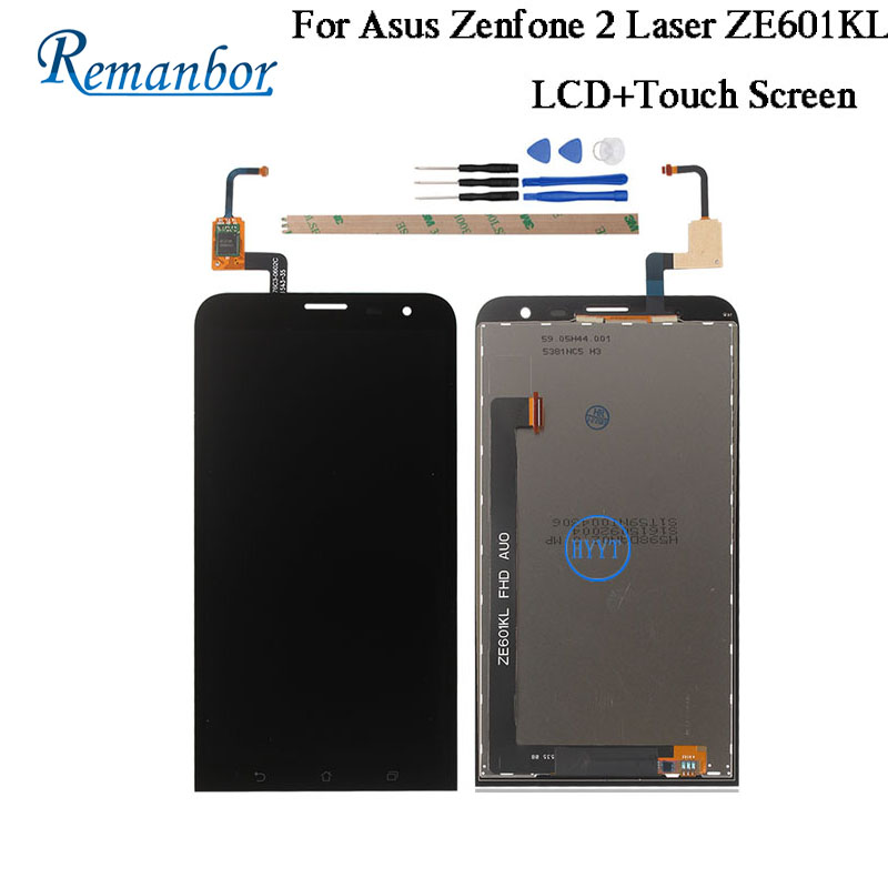 Remanbor For Asus Zenfone 2 Laser ZE601KL LCD Display And Touch Screen Repair Parts For Asus Zenfone 2 Laser ZE601KL With Tools