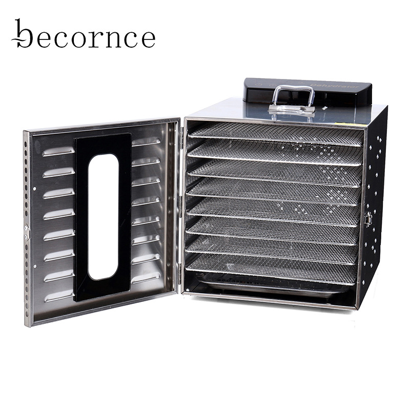Becornce 8 Layer Commercial Professional Fruit Food Dryer Food Fruit Vegetable Pet Meat Air Dryer Electric Dehydrato