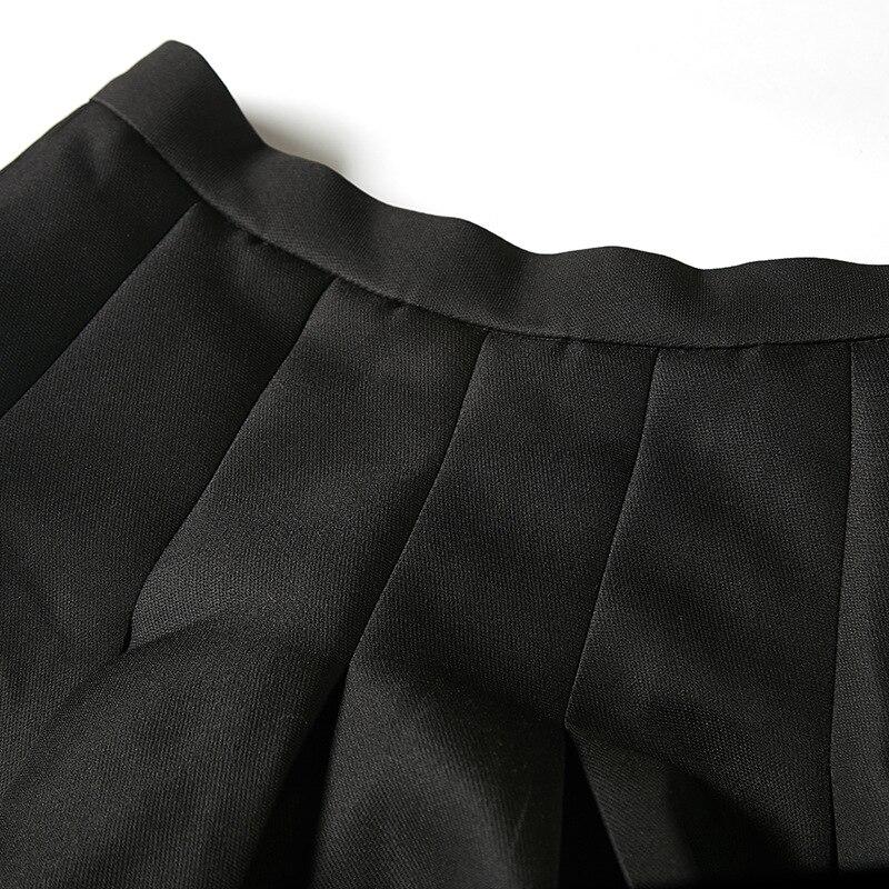 Femmes Femelle Tache De 2019 Taille Halfbody Plissée Haute Black A Mini Nouvelles Wc94801l ligne Mode Jupe Vêtements Deat Fond Awf6Eqpp