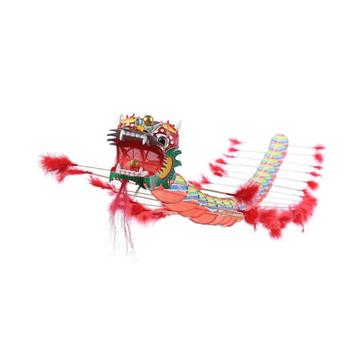 Chinese Design Decoration Flying Games Kite Kids Chinese Traditional Dragon Kite Fordable Children Outdoors Fun Sports Play Toys