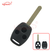 Kigoauto (No chip room)Remote key shell 3 button for Honda Accord CRV Pilot Civic Fit dwcx 2buttons remote flip folding key case shell fob fit for honda crv accord civic pilot fit 2007 2008 2009 2010 2011 2012 2013
