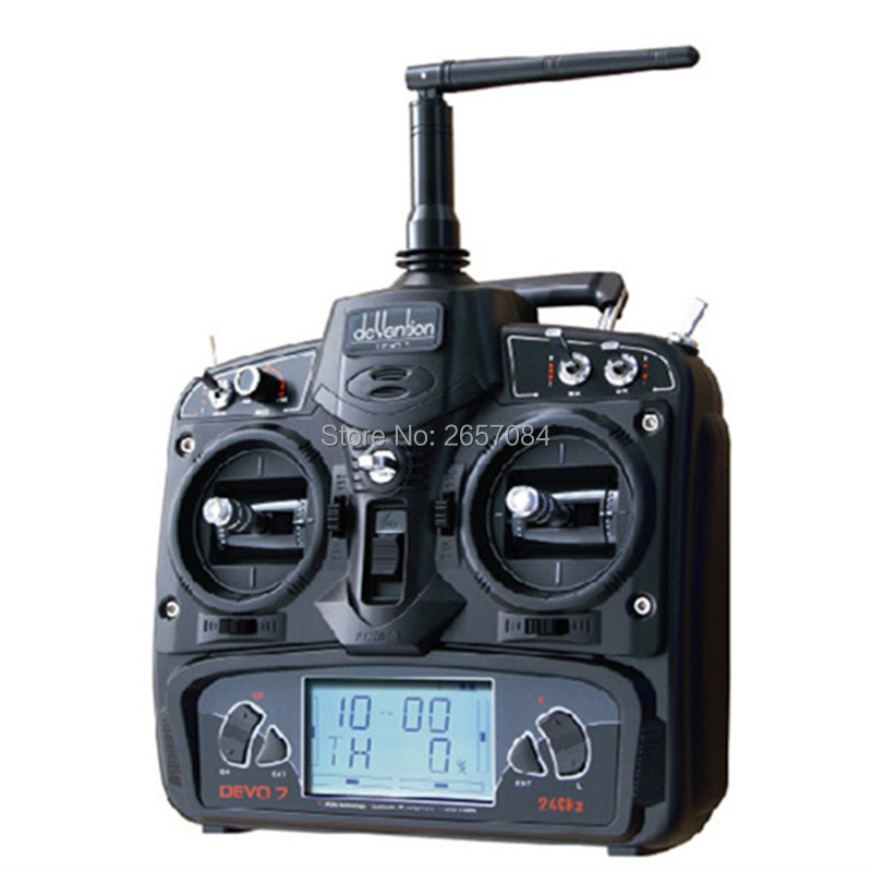Walkera DEVO 7 Radio 2.4 GHz 7 Channel RC Transmitter with RX701 Receiver for FPV RC Racing Quadcopter RC Helicopters AirplaneWalkera DEVO 7 Radio 2.4 GHz 7 Channel RC Transmitter with RX701 Receiver for FPV RC Racing Quadcopter RC Helicopters Airplane