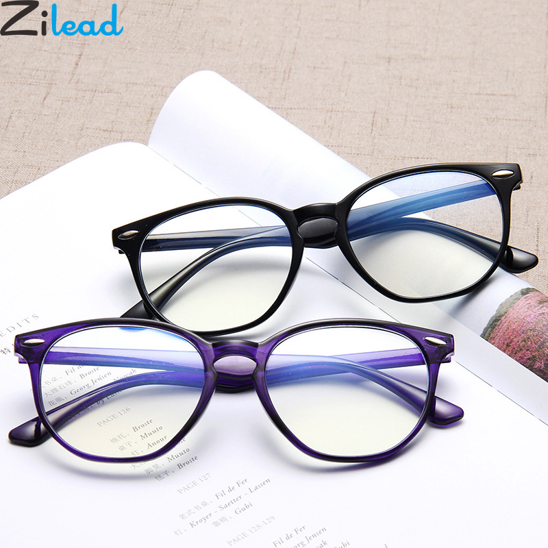 Zilead Anti Blue Light Round Computer Glasses Eyewear Frame For Women&Men HD UV Optical Spectacle Glasses Eyeglasses Unisex