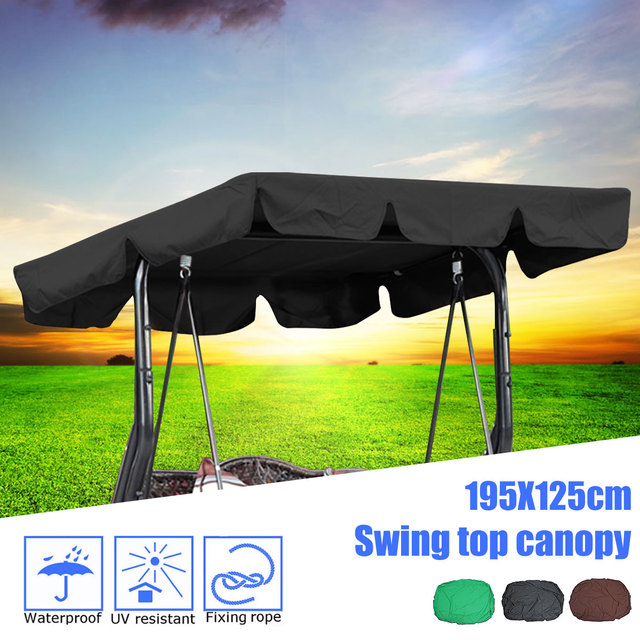 US $13 59 40% OFF|Garden Swing Chair Awning Waterproof Top Cover Canopy  Replacement for Garden Courtyard Ourdoor Swing Chair Hammock Canopy-in  Shade