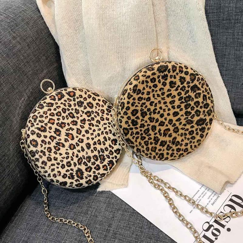 7a3316ab11 Brown Di Crossbody Leopardo Rotonda Casual Bag Messaggero Del Ragazze Sling  Borse cachi Figura Catena Delle Donne ...