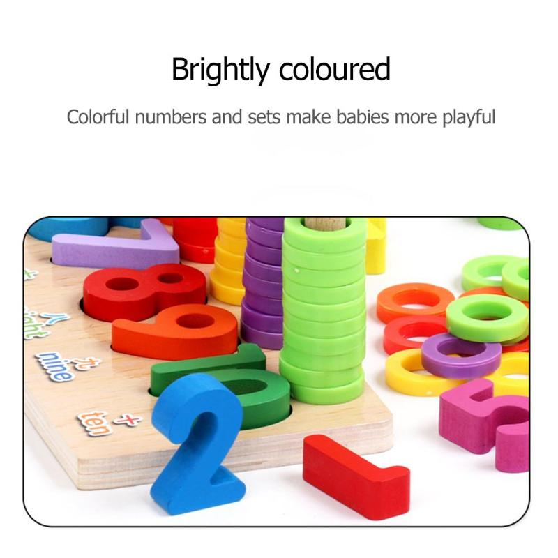 Wooden Montessori Toys Count Numbers Matching Wooden Toy Digital Early Learning Education Teaching Math Toy Gifts for Children in Math Toys from Toys Hobbies