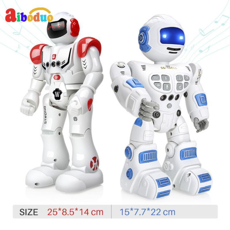 Télécommande jouet robot Intelligent Enfant robot rc Avec Chanter Danse jouets figurines d'action Pour Garçons Enfants cadeau d'anniversaire