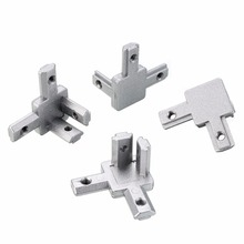 L Type 3-way Corner Bracket Fastener 2020 Corner Connector 2020 Series T Slot Aluminum Extrusion Profile Parts with Screw