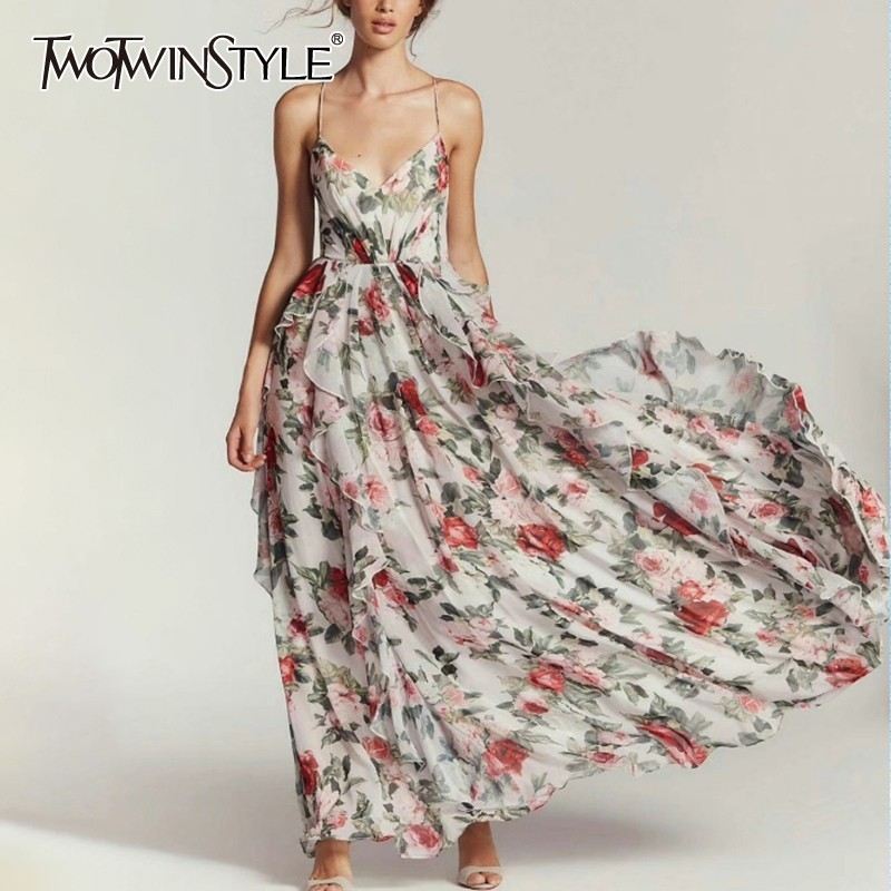 TWOTWINSTYLE Maxi Dress TDR19188