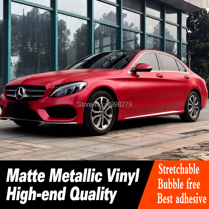 Full Vehicle Wraps metallic red wrapping film Car Wrap Vinyl roll red vinyl wrap for High end car real picture Warranty 5 years