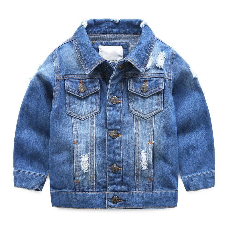 Toddler Boys Denim Jacket Kids Clothes Spring 2019 Children Turn Down Collar Coat Jaqueta Jeans Infantil