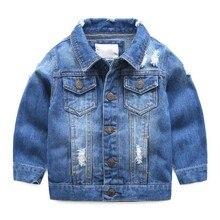 Джинсовая куртка для маленьких мальчиков, детская одежда, весна 2019, Детское пальто с отложным воротником, Jaqueta Jeans Infantil Menino Manteau Garcon