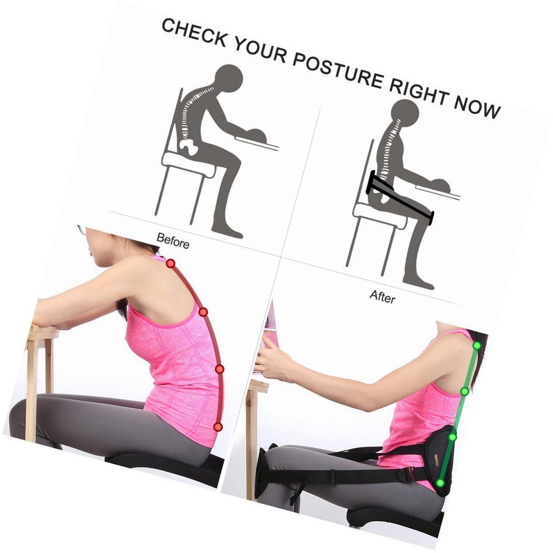 Einstellbare Knie und Sitzen Zurück Unterstützung Lenden Unteren Gürtel C Taille Schutz
