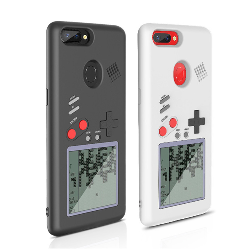 for vivo r11s retro Tetris Soft play Game Console stress reliever for Gameboy phone case