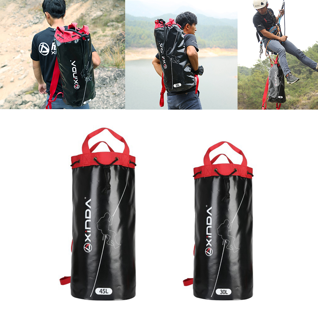 Rope Bag Outdoor Rock Climbing Caving Rope Organizer Backpack With Drawstring Closure Outdoor Sports Accessories