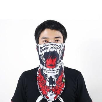 Зимняя уличная велосипедная Лыжная термальная маска для лица УФ-защита дышащая флисовая маска шарф 3D печатная треугольная маска для сноубо...
