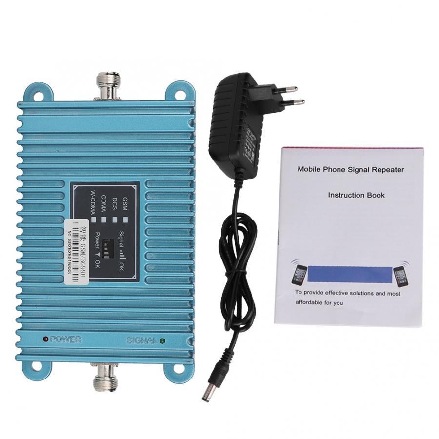 Smart Dual Band GSM/3G 990 2100Mhz Cell Phone Signal Amplifier Repeater Blue(EU Plug 100-240V)Smart Dual Band GSM/3G 990 2100Mhz Cell Phone Signal Amplifier Repeater Blue(EU Plug 100-240V)