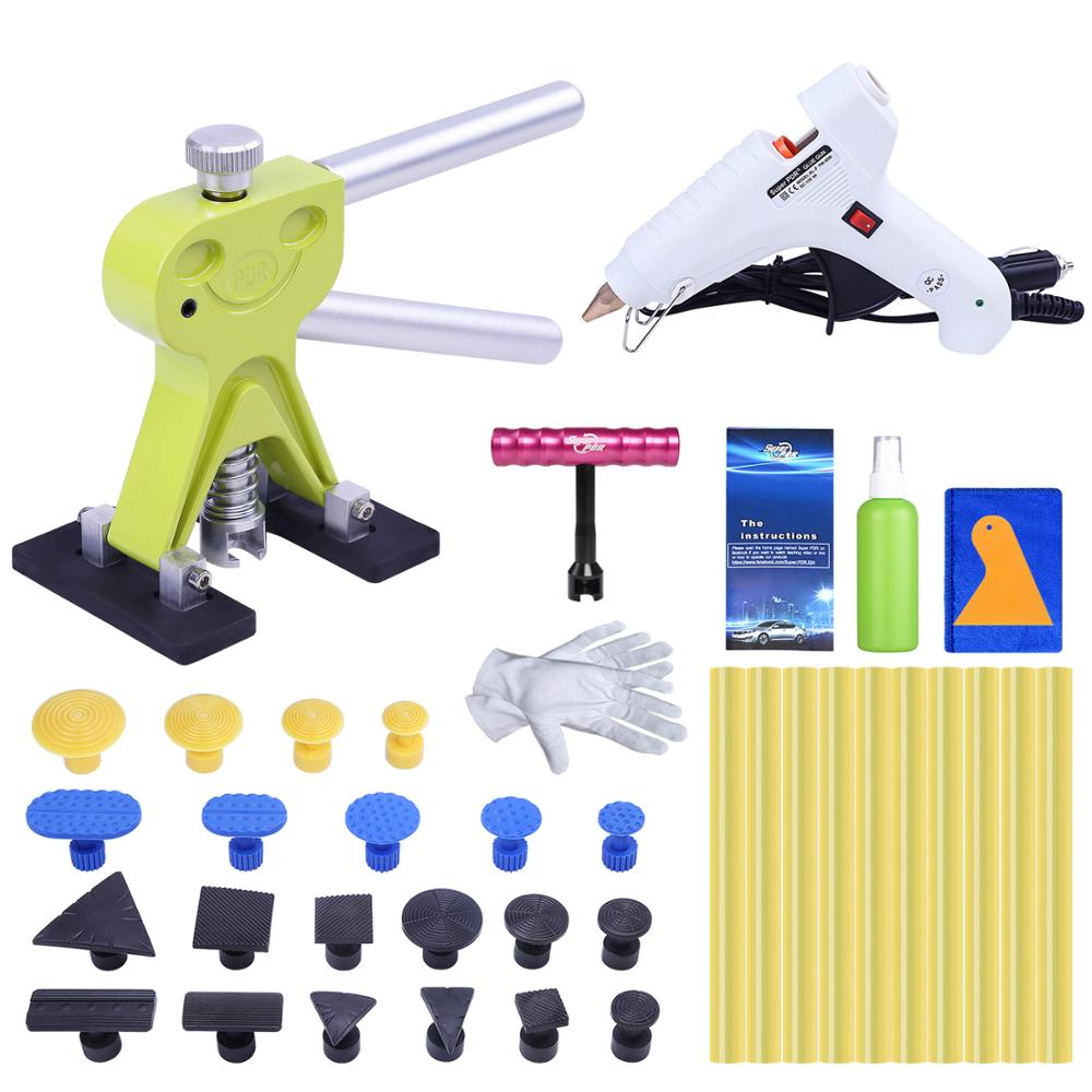 Super PDR Auto Dent Puller Suction Cup Glue Tabs Dent Repair Tools 12V White Hot Melt Glue Gun For Hot Adhesive Glue Sticks Sets super pdr tools dent removal kit for car dent puller suction cup glue sticks for hot melt glue gun line board pump wedge air bag