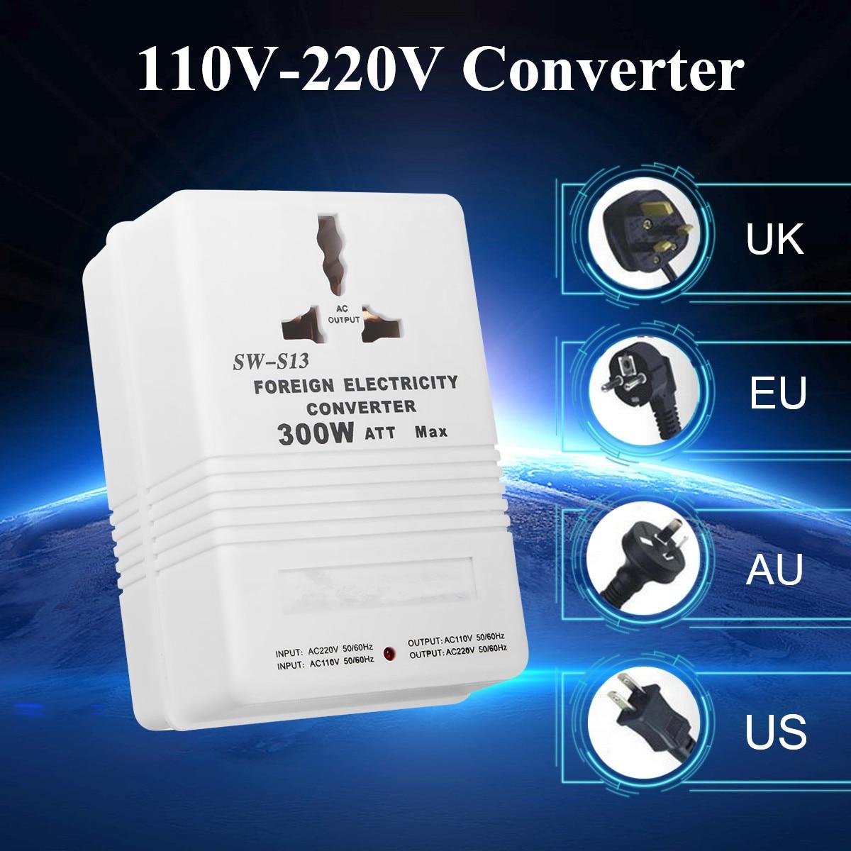 все цены на 110V to 220V Step Up/Down Voltage Converter 300W Watt Adapter Transformer Travel онлайн