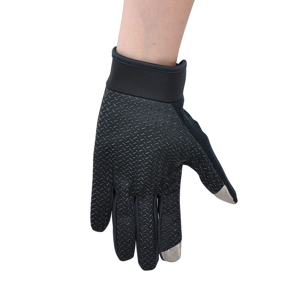 VIM Outdoor Full Finger Silicone Anti slip Gloves Men Screen Touch Gloves Cycling Gym Fitness Weight Lifting Workout Sports in Cycling Gloves from Sports Entertainment