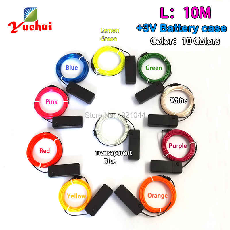 1 M/2 M/3M/4 M/5 M/10 M 2.3 Mm El kawat Set Colorful Neon Lampu LED Strip Light untuk DIY Dekorasi Glow Perlengkapan Pesta
