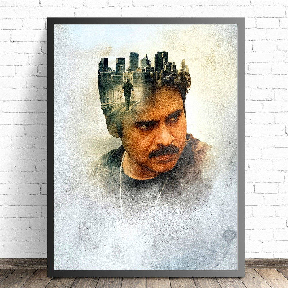 Pawan Kalyan India Movie Star Poster And Print Canvas Art Painting Wall Pictures For Living Room Decoration Home Decor No Frame in Painting Calligraphy from Home Garden
