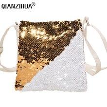 цены на 2018 Fashion Change Colors Small Women Leather Crossbody bag For girl Shoulder bag Sequined Messenger bag Clutch Handbag Purses  в интернет-магазинах