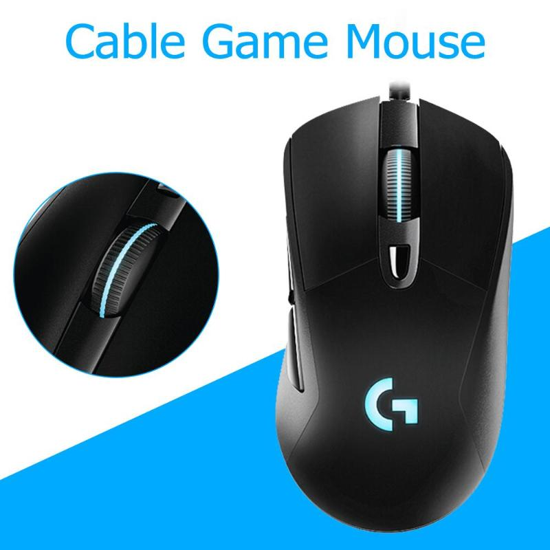 Logitech G403 Wired RGB <font><b>Gaming</b></font> <font><b>Mouse</b></font> Backlight <font><b>12000</b></font> <font><b>DPI</b></font> For PUBG PC Gamer image