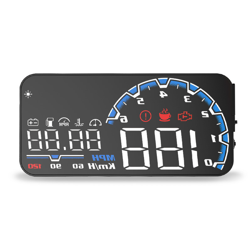 Car Electronics Head Up Display Speedometer Hud Projector On Windshield GPS Speedometer GPS HUD Obd2 Information Display Module