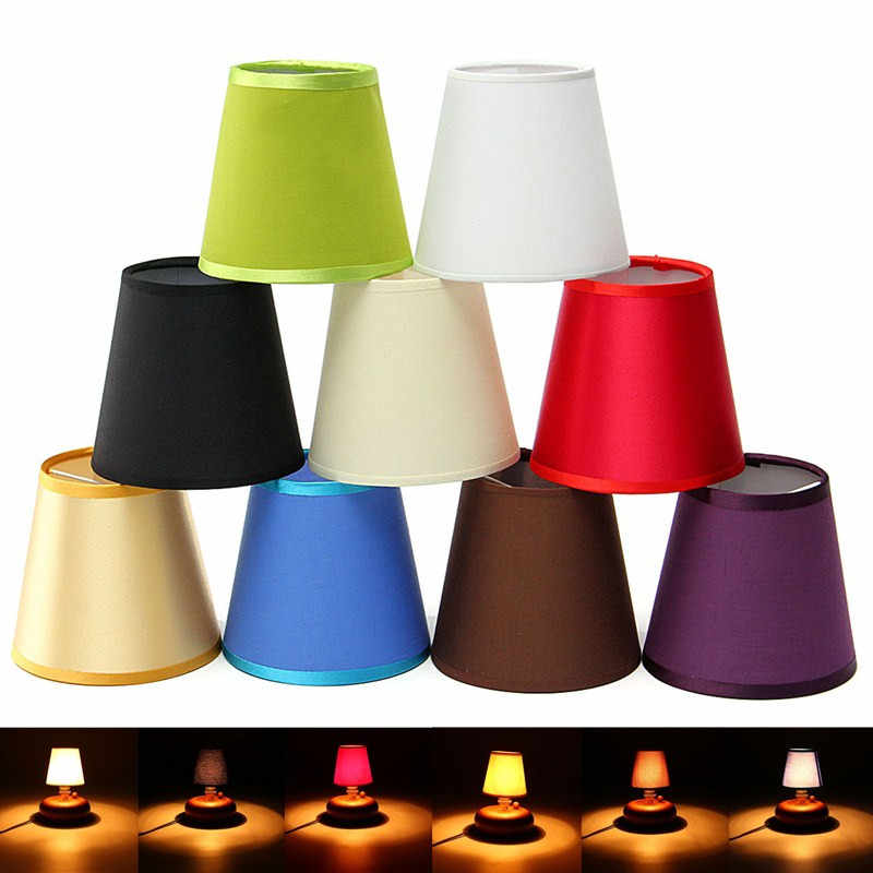 Best Price Fabric Chandelier Lampshade Holder Clip On Sconce Bedroom Beside Bed Lamp Light Lamp Covers