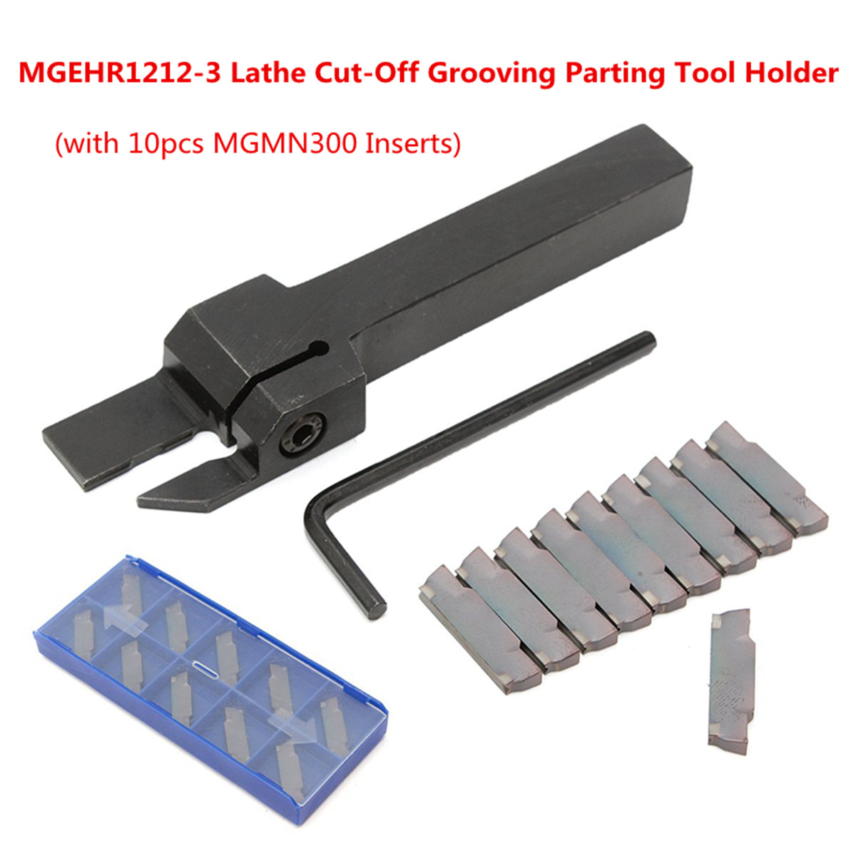 Tanice SPB26-3 26mm Parting Grooving Cut-Off Tool with 10pcs GTN-3 SP300 Insert for Steel Semi-finishing