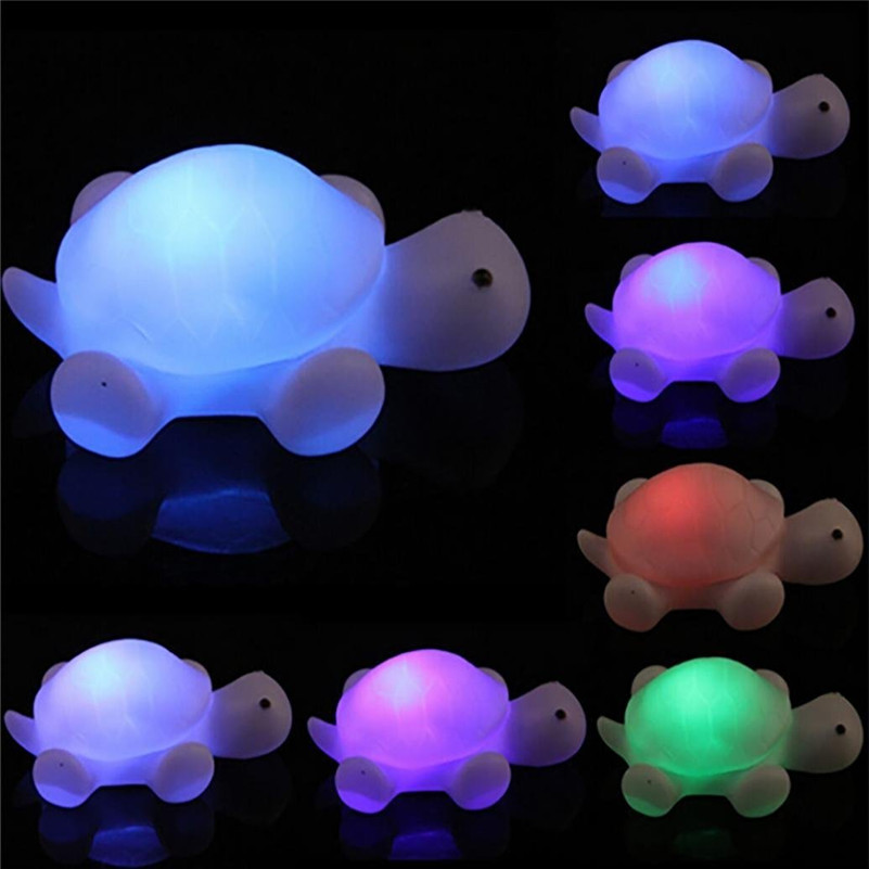 Mini LED Turtle Night Light 7 Color Changing LED Night Lamp Decoration Baby Kids Gift Toys For Children Bedside Lamp
