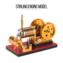 Hot Air Stirling Engine Model Flame Stirling Engine Motor Generator Model Science Experiment Kit Educational Toy Teaching Tools(China)