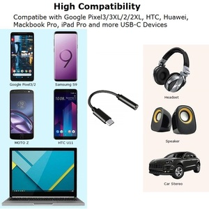 Image 5 - סוג C 3.5 שקע אוזניות USB C כדי 3.5mm AUX דיגיטלי אודיו מתאם DAC 32Bits/384KHZ עבור פיקסל 3/3XL Mate 20 P30 Oneplus 7 Xiaomi