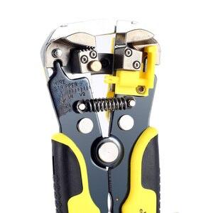 Image 5 - JX1301 כבל חוט חשפנית קאטר מלחץ אוטומטי רב תכליתי הפשטת כלים Crimping צבת מסוף 0.2 6.0mm יד כלי