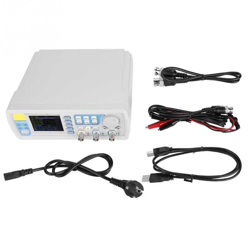 Hot AC100-240V FY6800 Signal Generator Double Channel DDS Function Arbitrary Waveform Signal Generator Oscilloscope 2019 newHot AC100-240V FY6800 Signal Generator Double Channel DDS Function Arbitrary Waveform Signal Generator Oscilloscope 2019 new