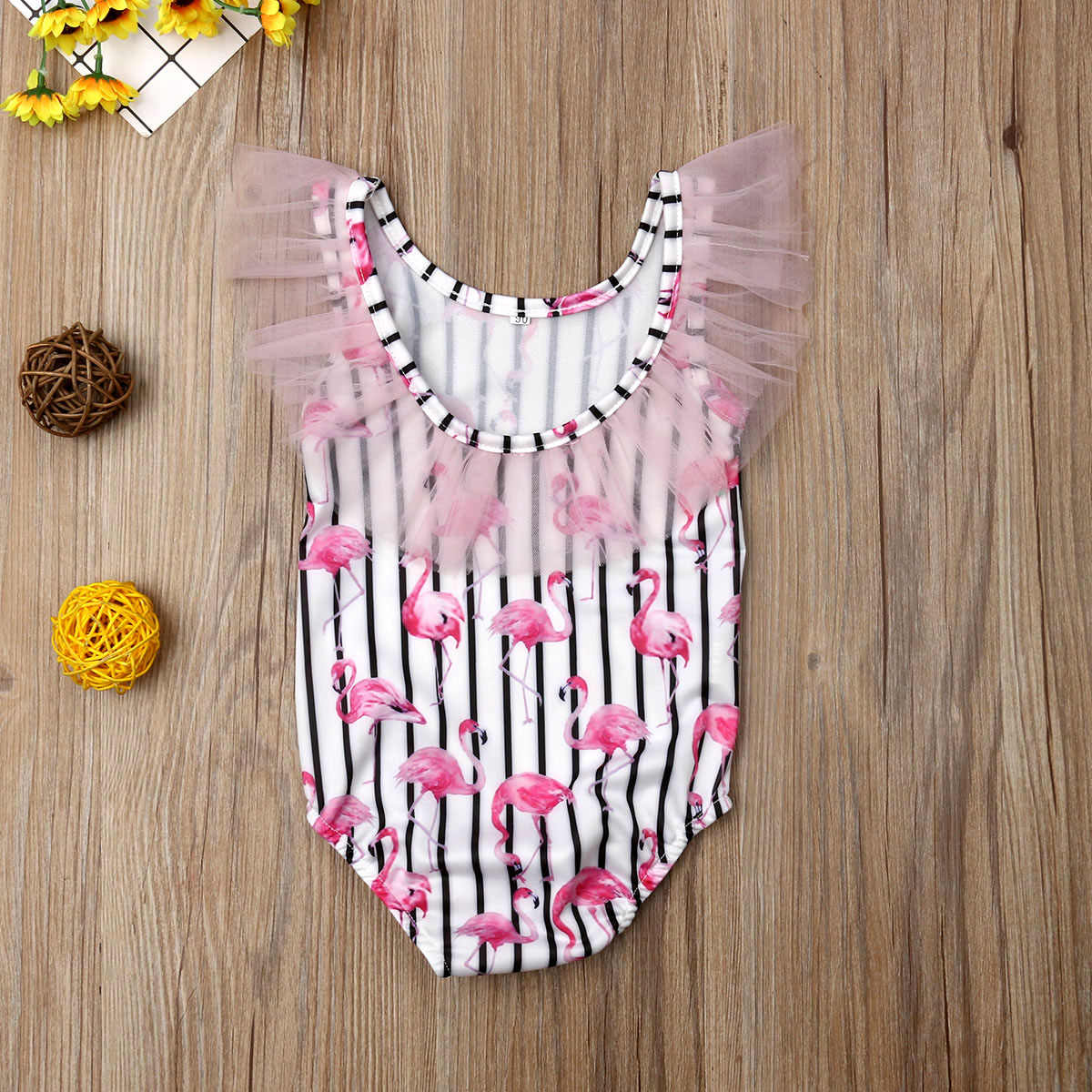 2019 フラミンゴプリント女の子水着ビキニベビーキッズ水着幼児水泳衣装夏の子供ビーチウェア服