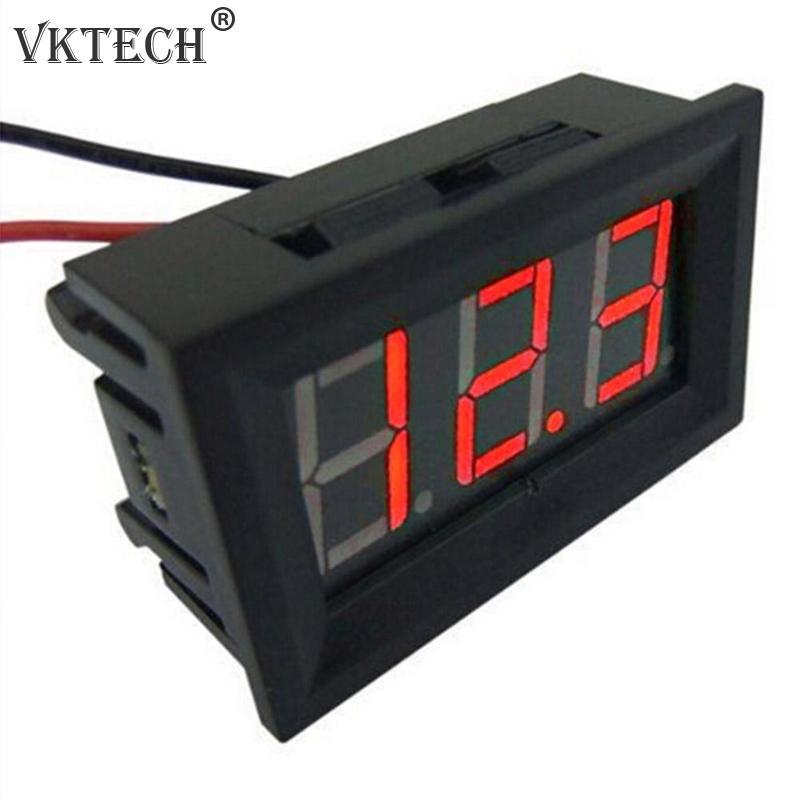 Mini Voltmeter Tester Digital Voltage Meter Voltage Test Battery DC 2.4V-30V 2 Wires For Motorcycle Car LED Display Gauge