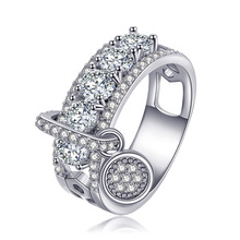 Bohemian 14K Rose Gold Diamond Anillos De Ring Bizuterias Bague Etoile Jewelry Gemstone Shape Rings for Women Amethyst Diamante