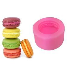 3D Stereo Macaron tarzı silikon kalıp DIY el yapımı sabun mum kalıp fondan kek çikolata dekorasyon araçları silikon sabun kalıpları