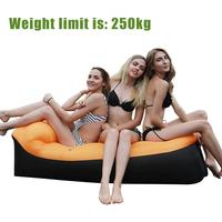 2019 Portable Fast Infaltable Air Sofa Bed Sleeping Bag Camping Lazy Air Bag Beach Sofa Laybag Folding Picnic Mat 220*70*40cm