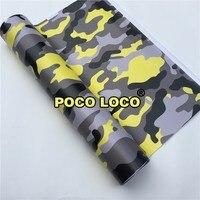 Large Yellow Tiger Camouflage Vinyl Wrap Film Car Styling Vinyl Wrap & Design Film Woodland Camouflage Vinyl Foil