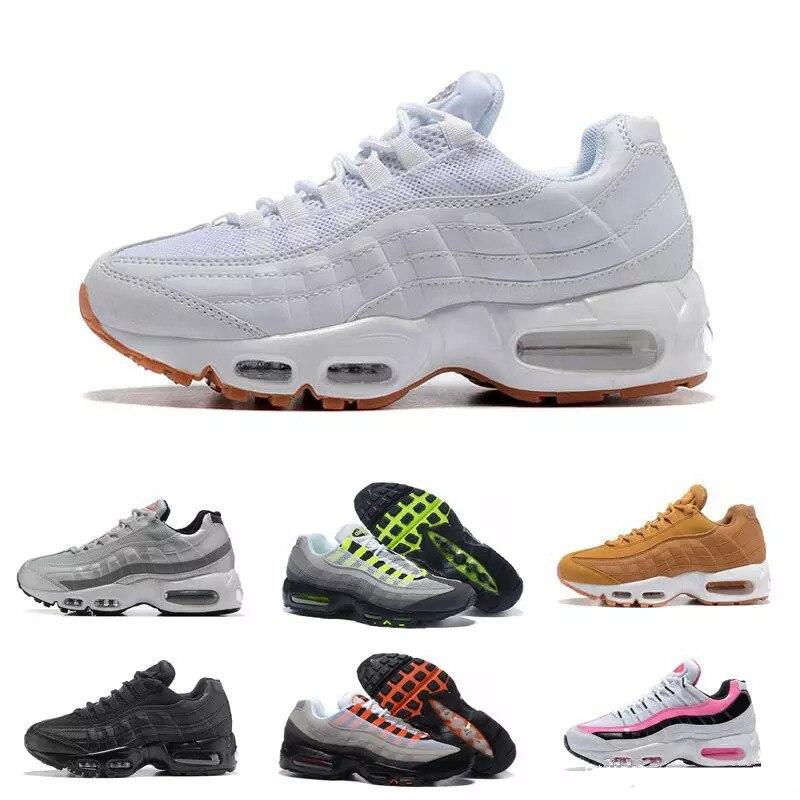 Hommes coussin d'air Max 95 chaussures de course femmes sport baskets athlétique marche Train chaussures Vapormax Tn
