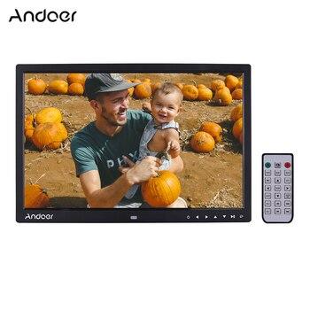 """Andoer ulepszona 17 """"LED cyfrowa ramka na zdjęcia elektroniczne ramki Album 1080 P maszyna reklamowa 1440*900 wysokiej rozdzielczość"""